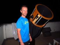Télescope pour admirer les planètes dans le désert de la Tatacoa